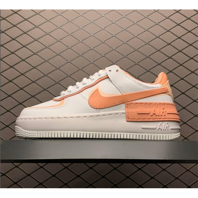 Womens Nike Air Force 1 Shadow White Pink Quartz-Washed Coral Sale