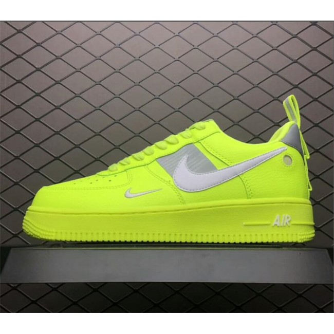 Mens/Womens Nike Air Force 1 Utility Volt White-Black-Wolf Grey