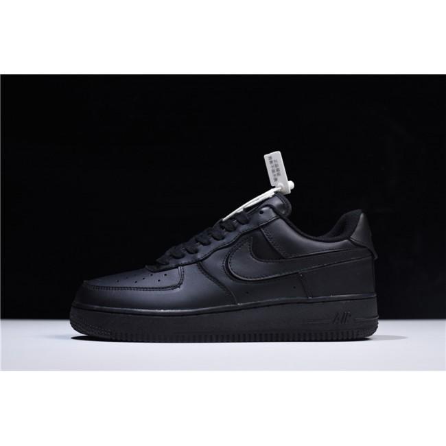 Mens/Womens Nike Air Force 1 Low Velcro Swoosh Pack Black