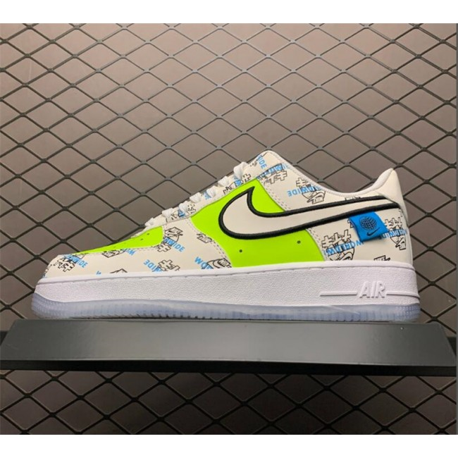 Mens/Womens Nike Air Force 1 White Green On Sale DA1343-117