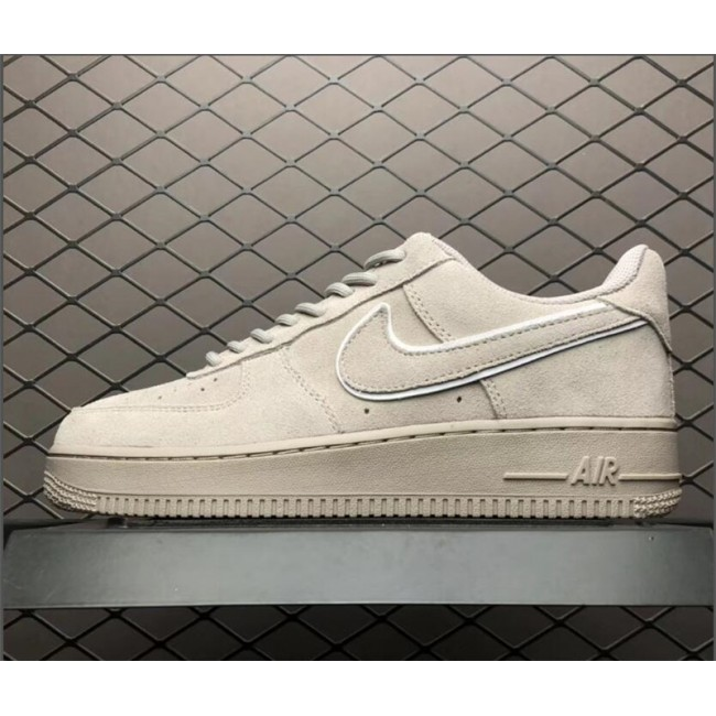 Mens/Womens Nike Air Force 107 AF1 Suede Moon Particle Sepia Stone