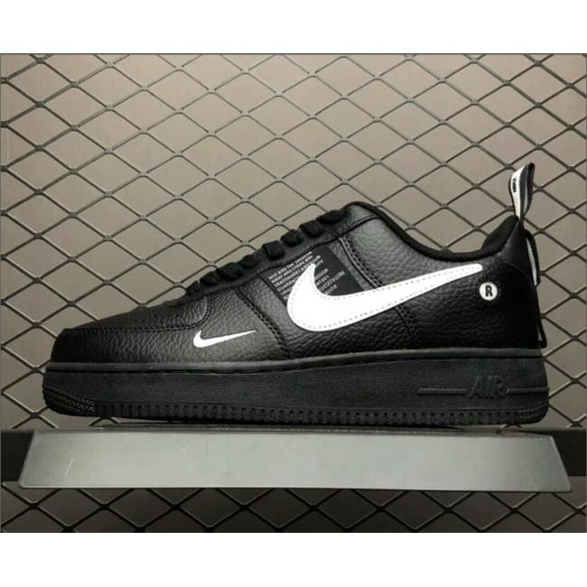 Mens Nike Air Force 107 Black White Tour Yellow