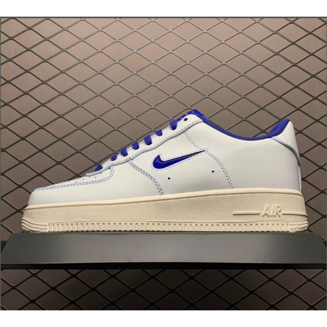 Mens/Womens Nike Air Force 107 White Blue On Sale CK4392-100