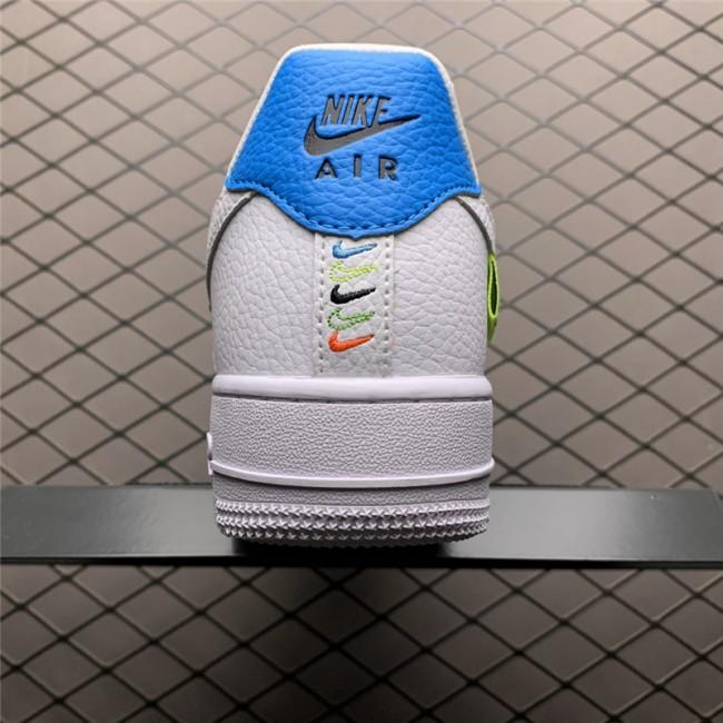 Mens/Womens Nike Air Force 107 White Green Blue On Sale