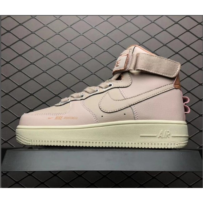 Womens Nike Sportswear Air Force 1 High Pink Sail Girls Sneakers