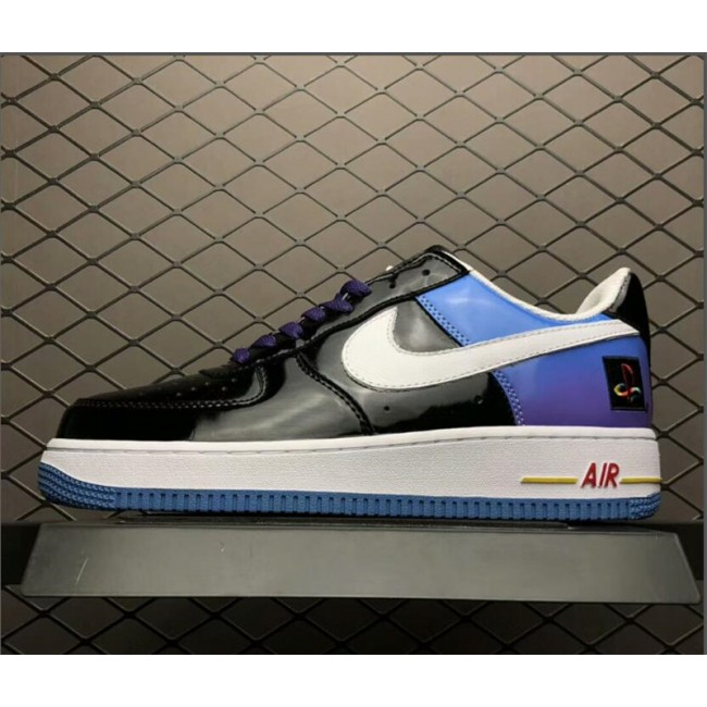 Mens PlayStation x Nike Air Force 1 Low Black-White Purple