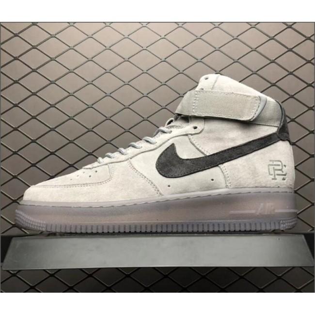 Mens/Womens Reigning Champ X Nike Air Force 1 High 07 AF1 Grey Black