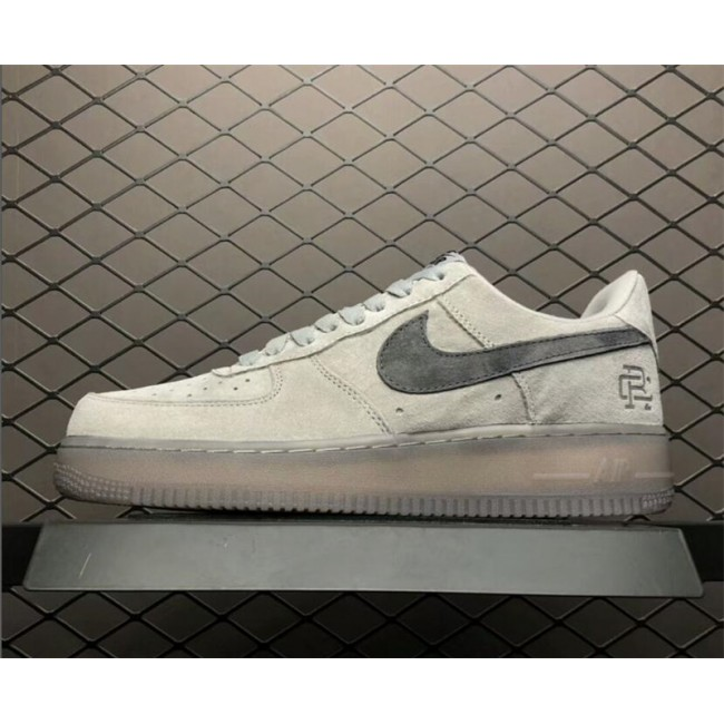 Mens/Womens Reigning Champ x Nike Air Force 1 Low 07 Suede Grey Black