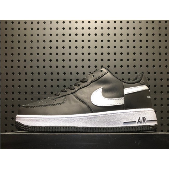 Mens Supreme X Comme Des Garcons X Nike Air Force 1 Low Black White