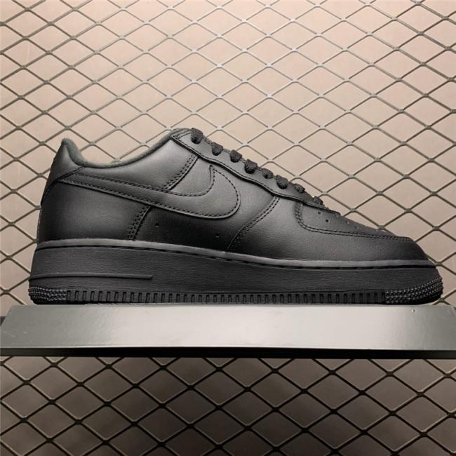 Mens Supreme x Nike Air Force 1 Low Black Sneakers