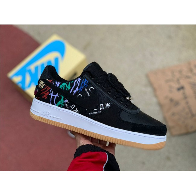 Mens/Womens Travis Scott x Nike Air Force 1 Astroworld Black Multi-Color