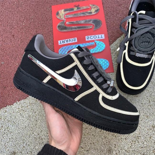 Mens Travis Scott x Nike Air Force 1 Black Sale
