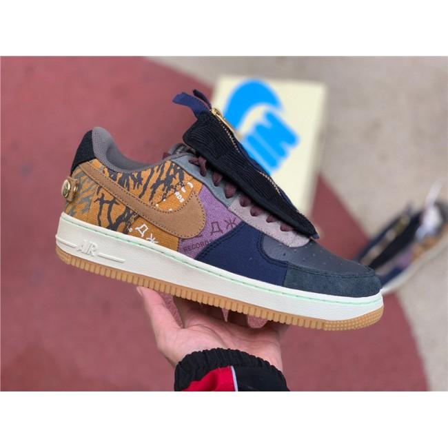 Mens/Womens Travis Scott x Nike Air Force 1 Low Cactus Jack