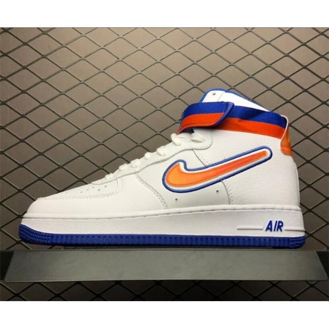 Mens/Womens Nike Air Force 1s High Sport Knicks White Team Orange