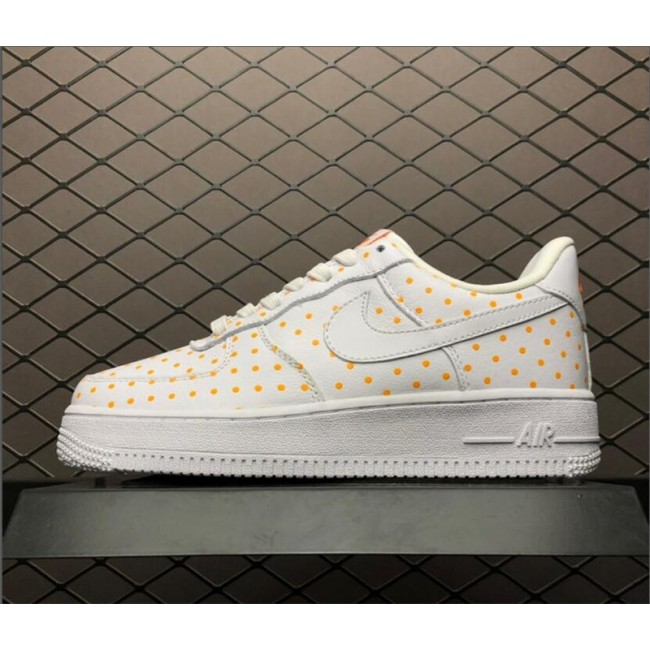 Womens Nike Air Force 1 Low White Orange On Sale