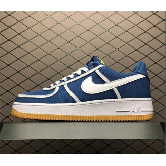 Womens Nike Air Force 1 07 PRM Navy Grey White