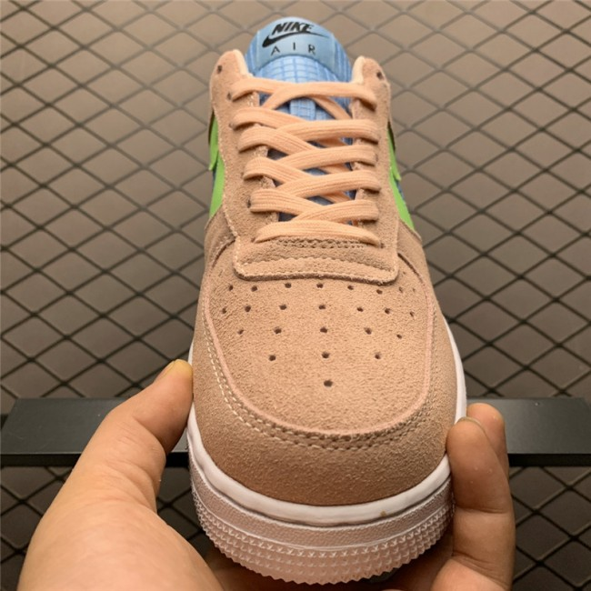 Womens Nike Air Force 1 07 SE Washed Coral Ghost Green