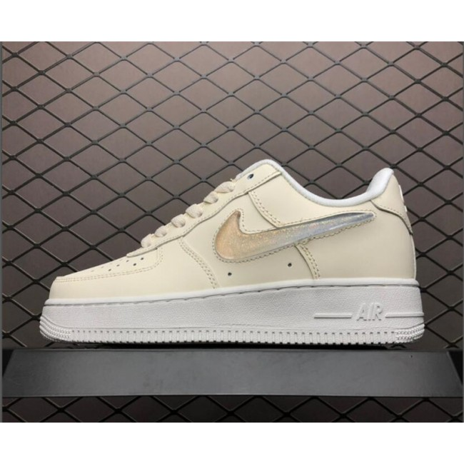 Womens Nike Air Force 1 Jelly Puff Pale Ivory Summit White