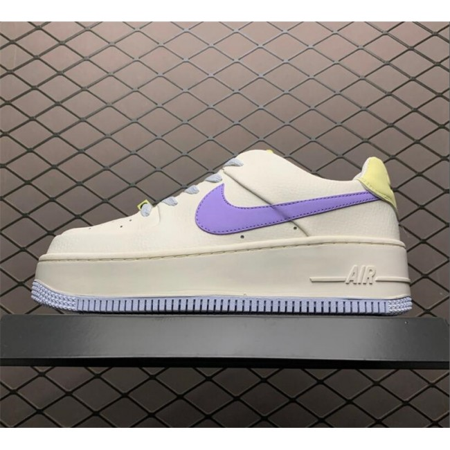 Womens Nike Air Force 1 Sail Medium Violet CN2579-151