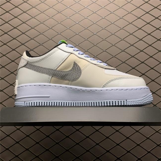 Womens Nike Air Force 1 Shadow Snakeskin Blue Swooshes