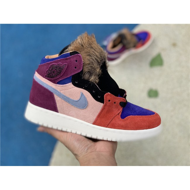 Womens Aleali May x Air Jordan 1 Retro High Viotech