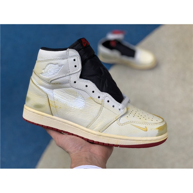 Mens/Womens Nigel Sylvester x Air Jordan 1 High OG Sail/Varsity Red