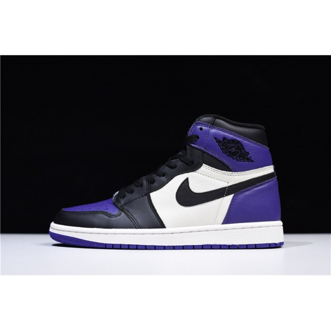 Mens Newest Air Jordan 1 Retro High OG Court Purple/Sail-Black