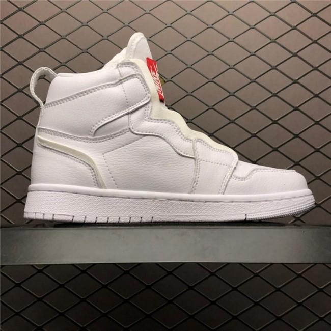 Womens Air Jordan 1 High Zip Triple White