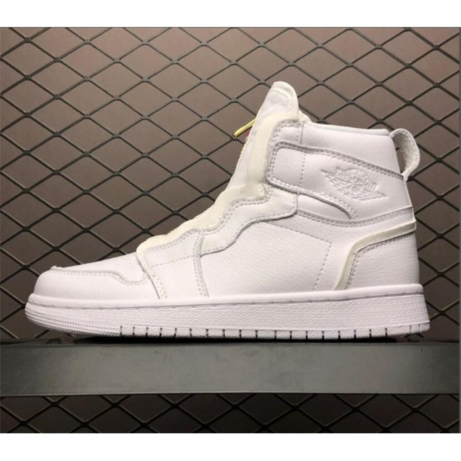 Womens Air Jordan 1 High Zip Triple White