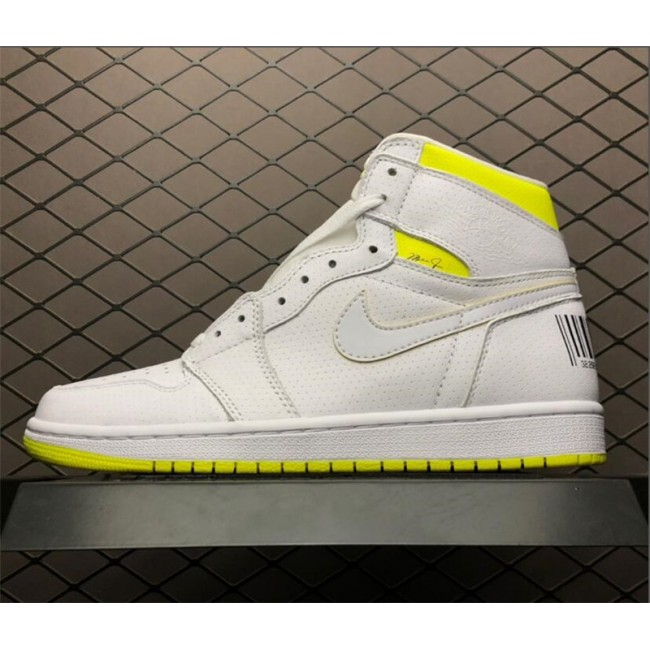 Mens/Womens Air Jordan 1 First Class Flight White Yellow