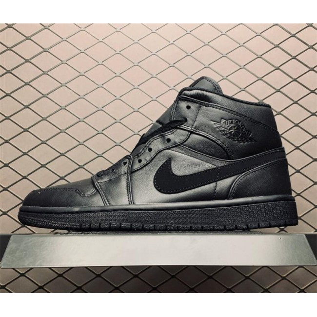 Mens/Womens Air Jordan 1 Mid Deep Black On Sale 554725-090