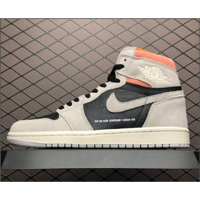 Mens Air Jordan 1 Retro High OG Neutral Grey/Hyper
