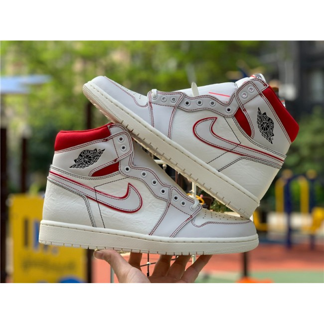 Mens Air Jordan 1 Phantom Retro High OG Sail/University Red