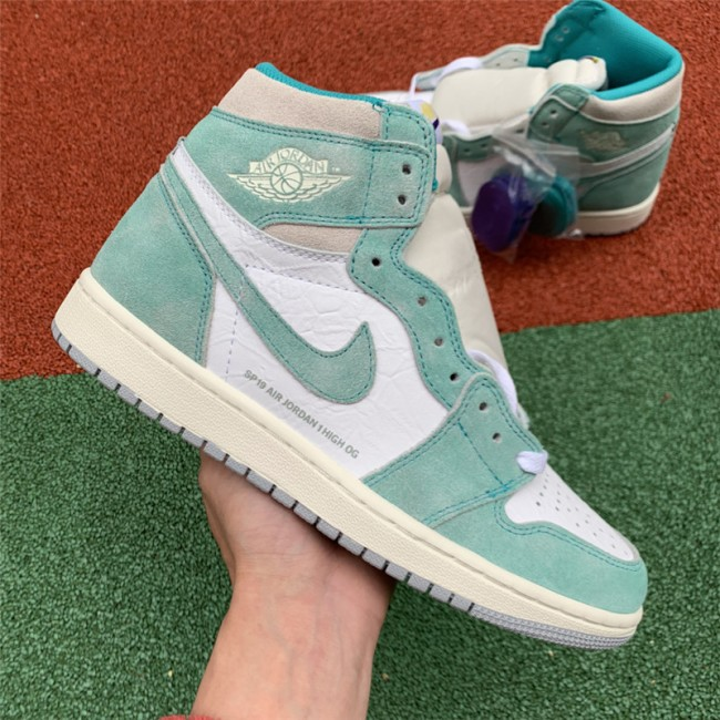 Mens/Womens Air Jordan 1 Retro High OG Turbo Green Green White