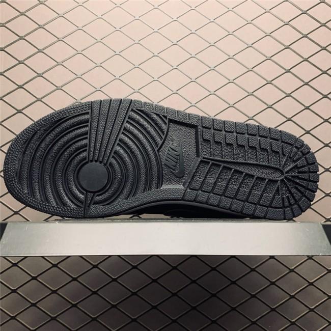 Mens/Womens New Air Jordan 1 Low Black White Purple Shoes