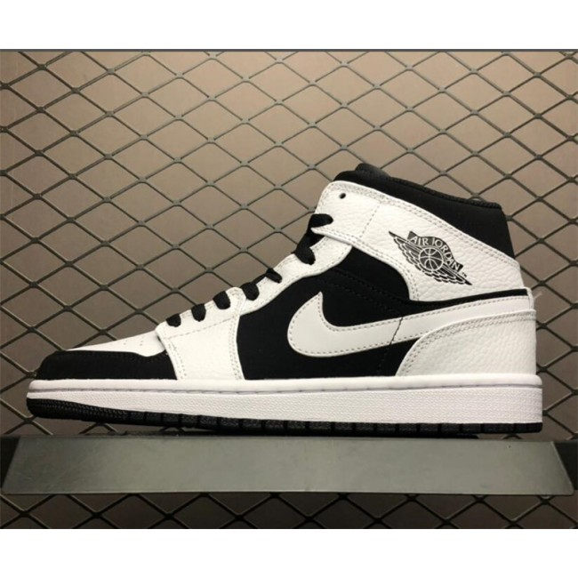 Mens New Air Jordan 1 Mid PS Tuxedo White Black
