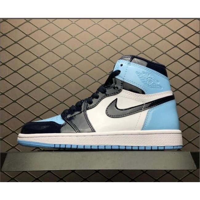 Mens/Womens New Air Jordan 1 UNC Patent Leather