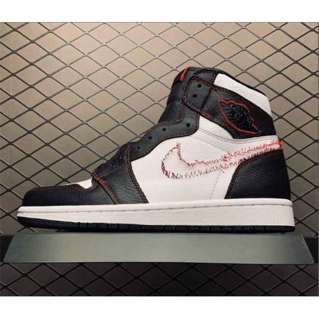 Mens Release Jordan 1 High OG Defiant White Black Sneakers