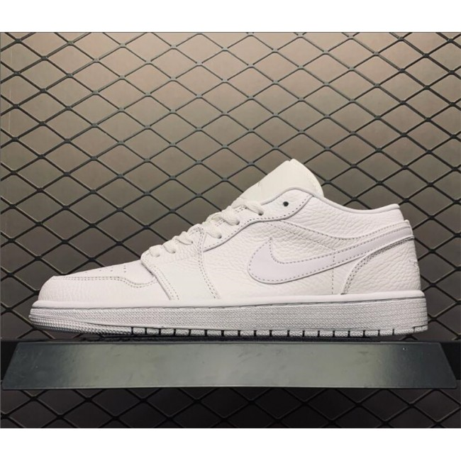 Mens/Womens Summer Air Jordan 1 Low Triple White Shoes