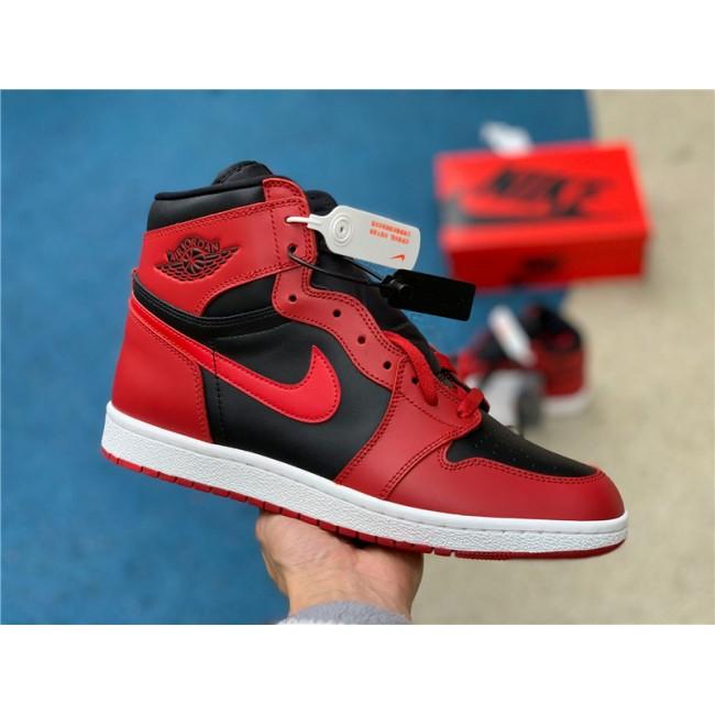 Mens Air Jordan 1 High 85 Varsity Red Summit White-Black