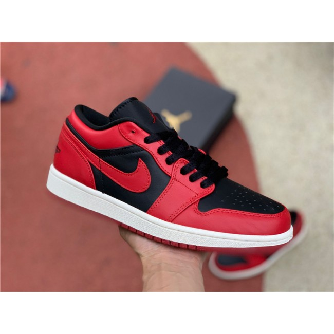 Mens/Womens Air Jordan 1 Low Black Red White CQ4422-600