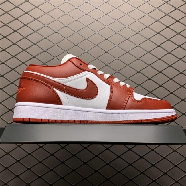 Mens/Womens Air Jordan 1 Low Gym Red Basketball Shoes