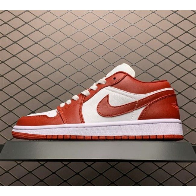Mens/Womens Air Jordan 1 Low Gym Red Basketball Shoes