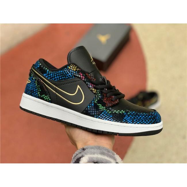 Mens/Womens Air Jordan 1 Low Multicolor Snakeskin To Buy