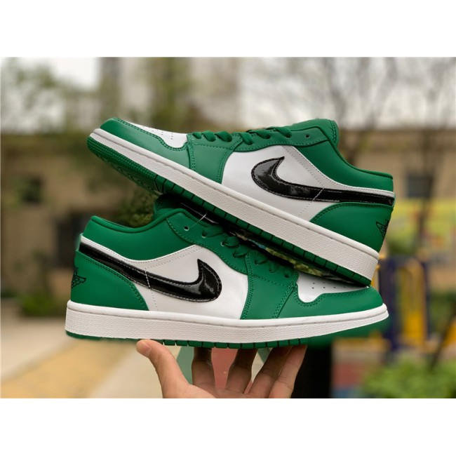 Mens/Womens Air Jordan 1 Low Pine Green Basketball Shoes