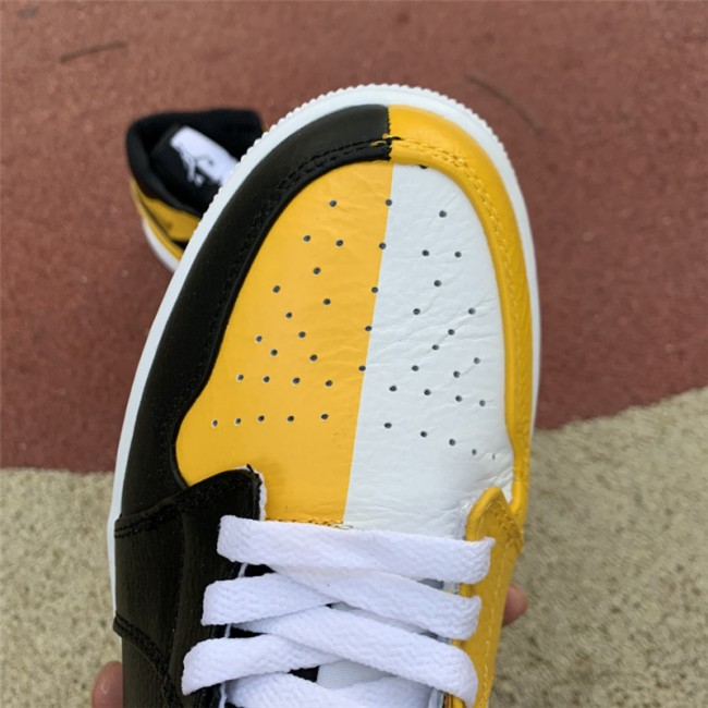 Mens/Womens Air Jordan 1 Mid Black White Yellow For Sale