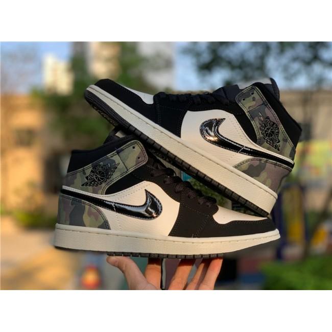 Mens/Womens Air Jordan 1 Mid Camo Shoes CW5490-001