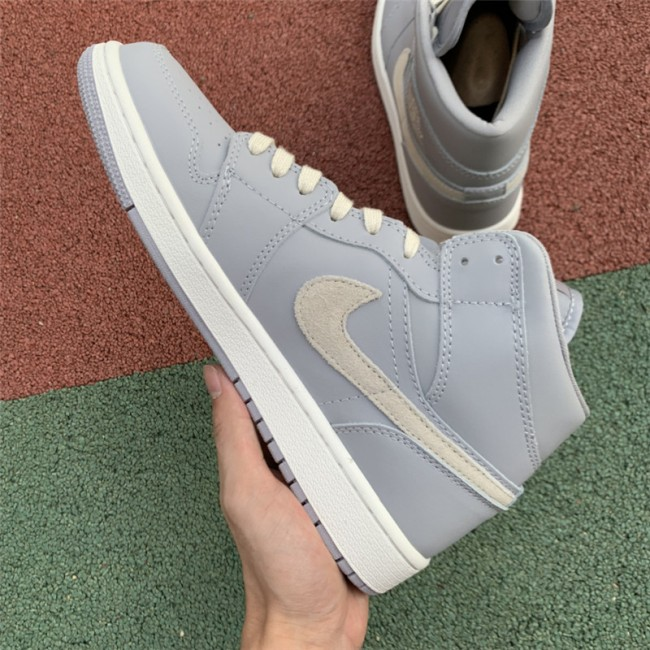 Mens Air Jordan 1 Mid Cool Grey/Light Bone CD7240-002