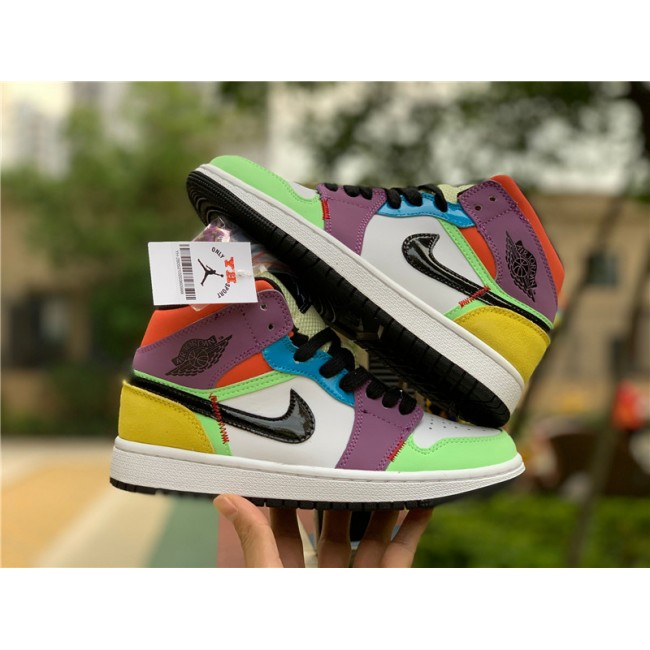 Mens/Womens Air Jordan 1 Mid Lightbulb Multi-Color