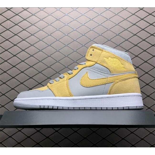 Mens/Womens Cheap Air Jordan 1 Mid Bone Grey Basketball Shoes